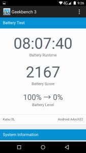 2,100mAh 電池,長開屏幕放電結果